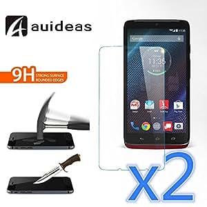 Motorola Droid Turbo XT1254 Screen Protector, AUIDEAS ,Glass Screen Protector -[2in1 Pack] [Tempered Glass] Glass Screen Protector Perfect Fit for Motorola Droid Turbo XT1254