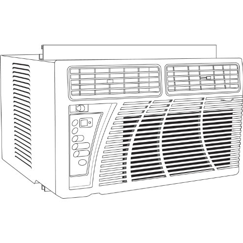 Classic accessories villa 55 105 023901 ec window a c for 17 wide window air conditioner