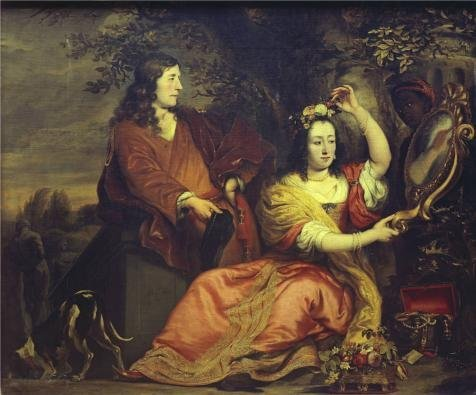 'Ferdinand Bol - Portrait Of Pieter De La Cour And His Wife,17th Century' Oil Painting, 8x10 Inch / 20x24 Cm ,printed On High Quality Polyster Canvas ,this High Quality Art Decorative Canvas Prints Is Perfectly Suitalbe For Gift For Girl Friend And Boy Friend And Home Decoration And Gifts