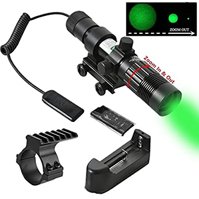 Beileshi Adjustable Green Laser Pointer Laser Sight Designator/Illuminator/Flashlight W/Weaver Mount by Beileshi :: Night Vision :: Night Vision Online :: Infrared Night Vision :: Night Vision Goggles :: Night Vision Scope