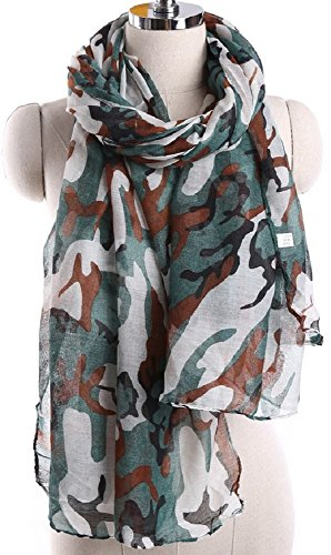 Bettyhome-Retro-Camouflage-Print-Womens-Scarf-Shawl-Lightweight-7087-inch-x-3543-inch-Diff-Color-white