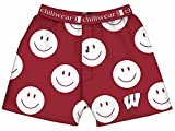 Wisconsin Badgers Smiley Face Boxers