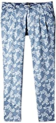 Pepe Women's Relaxed Pants (FLORAS PANT_Ice-Blue_L)