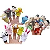Story Time 10 pcs Velvet Animal Finger Puppets