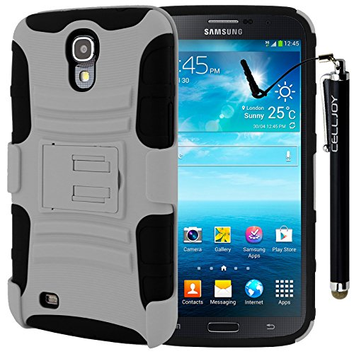Celljoy® Samsung Galaxy Mega 6.3 Hard Case Protective Cover Skin [Future Armor] Ultra Fit Dual Protection Cover With Belt Clip Holster For Galaxy Mega 6.3 [Retail Packaged] + Smoothglide Capacitive Stylus Touch Pen (Wolf Gray)