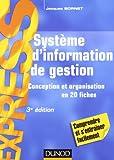 echange, troc Jacques Sornet - Système d'information de gestion - 3e éd. - Conception et organisation en 20 fiches