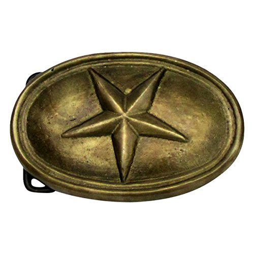 Antique Brass TEXAS STAR CIVIL WAR Belt BUCKLE