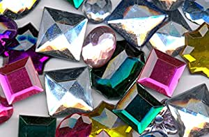 Assorted Acrylic Jewels - 70g Bag