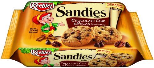 Keebler Sandies Chocolate Chip Pecan Cookies,