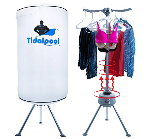 Tidalpool Portable Clothes Dryer - 1200W Electric Mini Compact 22lb Capacity Laundry Drying Rack with High Powered Heater and UV Light (Kenmore Washer Stacking Kit compare prices)