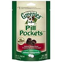 GREENIES PILL POCKETS Original Canine Treats - Hickory Smoke Flavor - Tablet Size - 3.2 oz. (90 g) - 30 Count