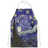 Tardis Starry Night Van Gogh Apron Full Print Apron