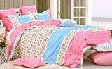 WRAP 100% COTTON DOUBLE BED DUVET SET (1 BEDSHEET 2 PILLOW COVERS & 1 DUVET COVER) CNSD-09