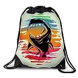 FUNKYLICIOUS Drawstring Polyester The Shark Effect Design (Multicolour)