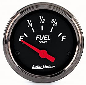 Auto Meter 1418 Designer Black Fuel Level Gauge