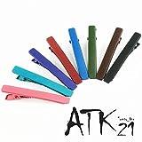 [ATK21] (2本セットLサイズ) マットカラー クリップピン ダッカール シンプル 無地 前髪 艶消し レディース ヘアアクセサリー 大人可愛い (ブラック)