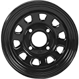 ITP Delta Steel Wheel - 12x7 - 4+3 Offset - 4/156 - Black, Wheel Rim Size: 12x7, Rim Offset: 4+3, Color: Black, Bolt Pattern: 4/156 D12T556