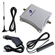 Phonetone 50dB GSM 3G CDMA 850MHz 4G LTE 1800MHz Dual Band Mobile Cell Phone Signal Booster Repeater Amplifier Car Use