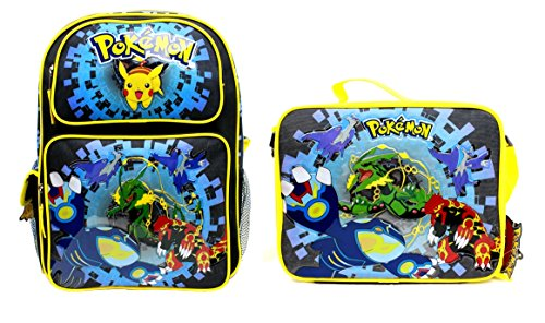 New Pokemon Pikachu Backpack With Lunch Set