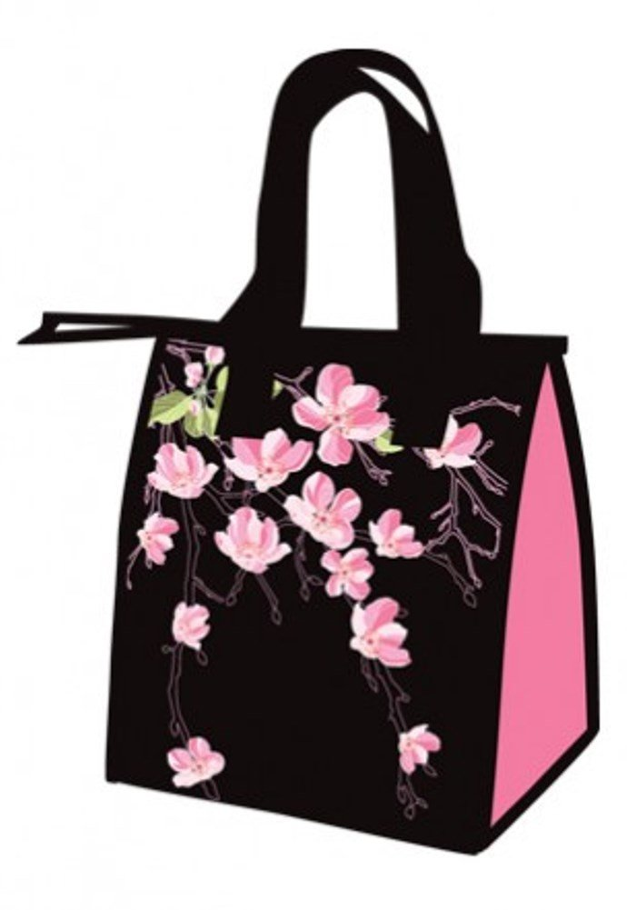 Hawaiian Small Insulated Lunch Bag Cherry Blossoms