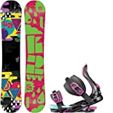 K2 Vavavoom Rocker 152 Pink Ladies Snowboard + Rossignol Justice Bindings - Fits Boot... by K2