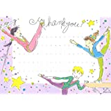 Girls Gymnastics Thank You Cards, Fill-In Style, 8 Pack