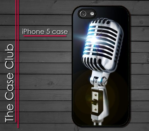 Iphone 5 Rubber Silicone Case - Old School 50'S Style Microphone Singing Band Concert Rockabilly