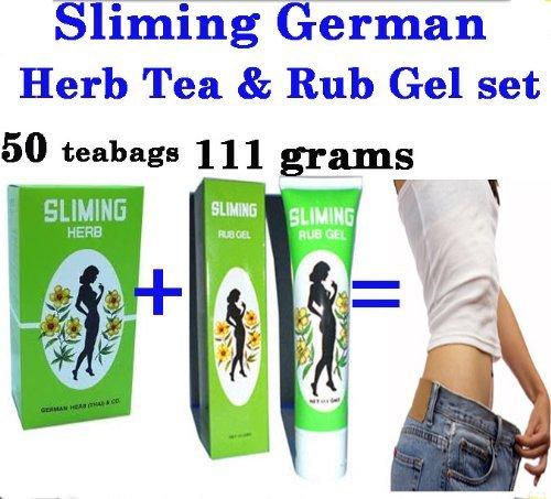 Sliming Rub Gel German Herb Tea Firming Body Lose Weight Loss Lost Reduce Fat