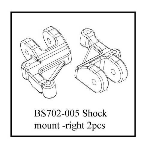 Redcat Racing Right Shock Mount