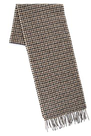 Collezione Pure lambswool Houndstooth Scarf [T09-4053C-S]