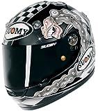 Suomy Vandal Chain Helmet (Black/Silver/White, Medium)
