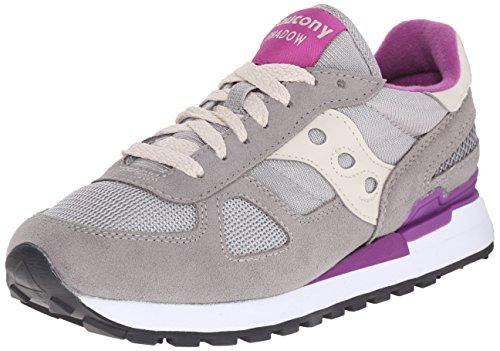 Saucony Shadow Original Scarpe Low-Top, Donna, Grigio (Light Grey/Purple), 38
