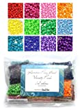 Rainbow Pony Bead Variety Pack - 12 Color Set - 300 grams (about 1200 beads)