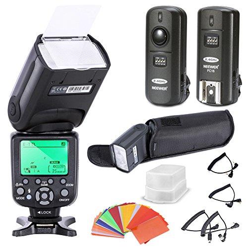 Neewer® Triopo E-TTL CANON I-TTL NIKON Speedlite Camera Flash Kit for * BOTH* Canon & Nikon Digital SLR Cameras *High Speed Sync* Rebel SL1 XT Xti Xsi T1i T2i T3i T4i T5i XS T3i EOS 5D Mark II 2 III 3