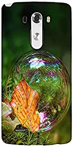 Snoogg Bubble Drops Designer Protective Back Case Cover For LG G3