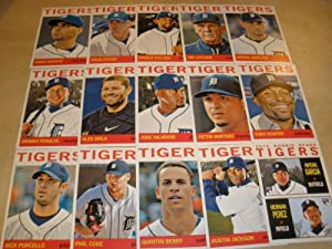 2013 Detroit Tigers Topps Heritage Baseball Complete Mint 15 Basic Card Team Set by Detroit+Tigers+Team+Set