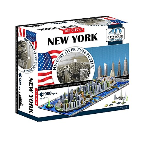 4D New York City Skyline Time Puzzle (New York Model compare prices)