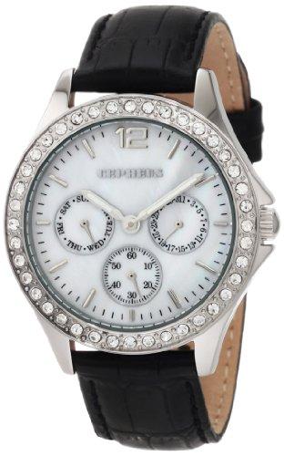 CEPHEUS CP502-482 - Reloj de mujer de cuarzo, correa de piel color negro