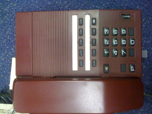 Teli Companion Desk Phone - Burgendy image