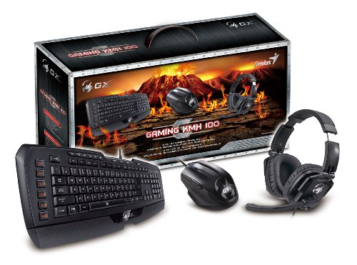 Genius 3-In-1 Gaming Set With Imperator Keyboard, Maurus Gaming Mouse And Lychas Headset Combo (Gx-Gaming Kmh 100)