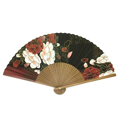 Japanese folding fan / KOKUSENKA / 7.7inch 35spaces Single-side printing / With premium fan box (Sensu Folding Fan compare prices)