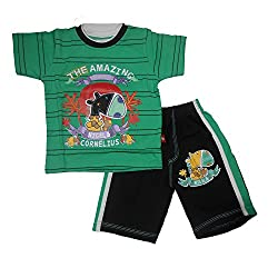 NammaBaby Half Sleeves T-Shirt and Nekar Shorts Set (3-4 Years)
