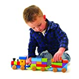 Large Wooden Puzzle Train [new design]