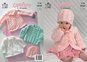 King Cole Knitting Patterns To Download : Amazon.com: King Cole Comfort Aran Knitting Pattern Babies Knitted Coat Dress...