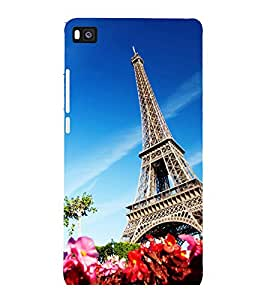 printtech Paris Tower View Back Case Cover for Huawei Honor P8