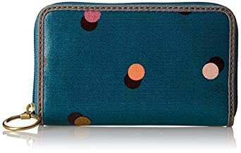 Fossil Keyper Zip Wallet,Peacock Blue,One Size