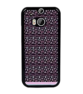 PrintDhaba Key Pattern D-1007 Back Case Cover for HTC ONE M8 EYE (Multi-Coloured)
