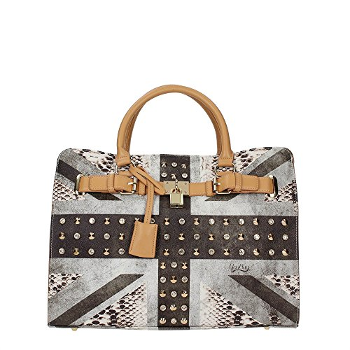BORSA DONNA SHOPPING A MANO YOU BAG STAMPA BANDIERA UK FASHION NUOVA ORIGINALE CON ETICHETTE