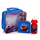 Spiderman 3-Piece Lunch Bag/ Bottle and Sandwich Box, Set of 3