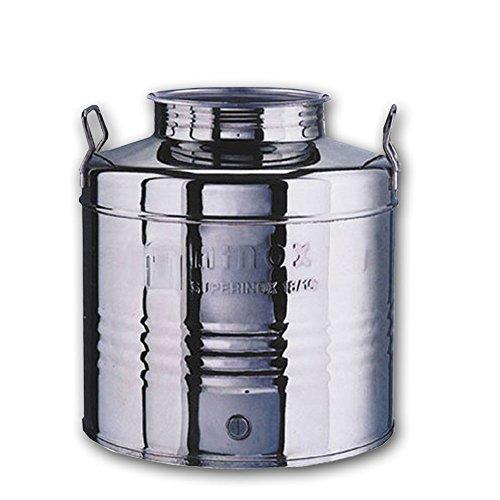Fusto inox 25 Lt contenitore-bidone olio pred x rubinetto MADE IN ITALY FTC10025